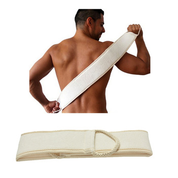 1PC Man Soft Skin Care Exfoliating Loofah Sponge Back Strap Bath Shower Body Massage Spa Cleaning Scrubber Brush body wash - discount item  30% OFF Bath & Shower