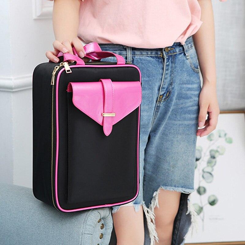 QEHIIE Brand High Quality Cosmetic Case for Women's Bag 2017 Travel Cosmetic Bag Organizer Beautician Shoulder Makeup Bag qehiie brand women s makeup box