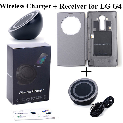 30pcs/lot DHL free shipping Qi Wireless Charger +Wireless Charging Reveiver Case For LG G4 for Samsung Galaxy S6 for Sony google