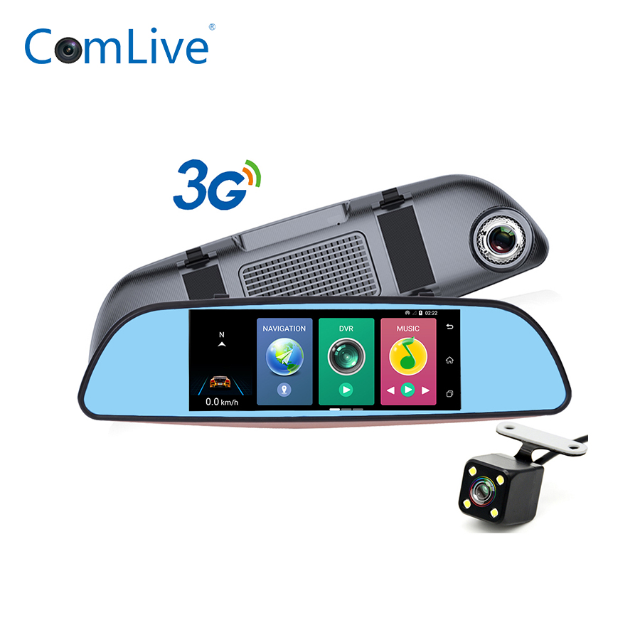 3G Android GPS Dual Lens car dvrs rearview mirror with Rear View Camera  FHD 1080P camcorder dash cam registrar WIFI Camlive H3 7 inch 2 din bluetooth car stereo multimedia mp5 player gps navigation fm radio auto rear view camera steering wheel control