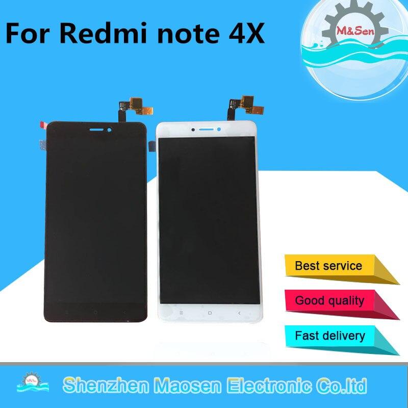 M & sen para xiaomi redmi nota 4x 4 versão global display lcd + painel de toque digitador quadro snapdragon 625 octa núcleo