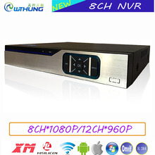 Network Video Recorder 8CH*1080P/12CH*960P Onvif NVR XMeye P2P Hisiclion Chip Metal Case for CCTV security IP camera