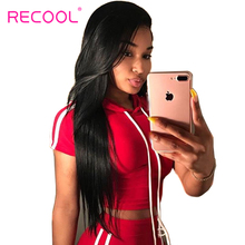 Recool Peruvian Virgin Hair Straight 8-30 Inch Human Hair Bundles 100% Natural Weave Hair Extensions Can Be Dyed Free Shipping(China)