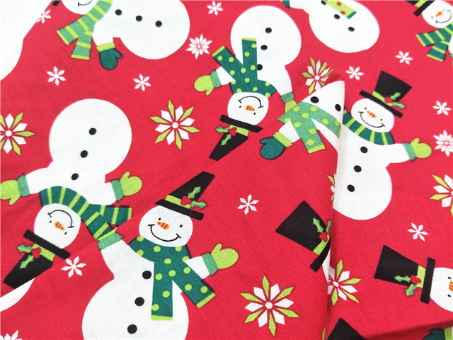 110100cm Fabric Christmas Cotton Snowman For Home Textile Diy Quilting Tiss Doll
