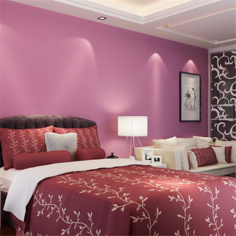 ✅beibehang pure color wallpapers bedroom living room TV background ...