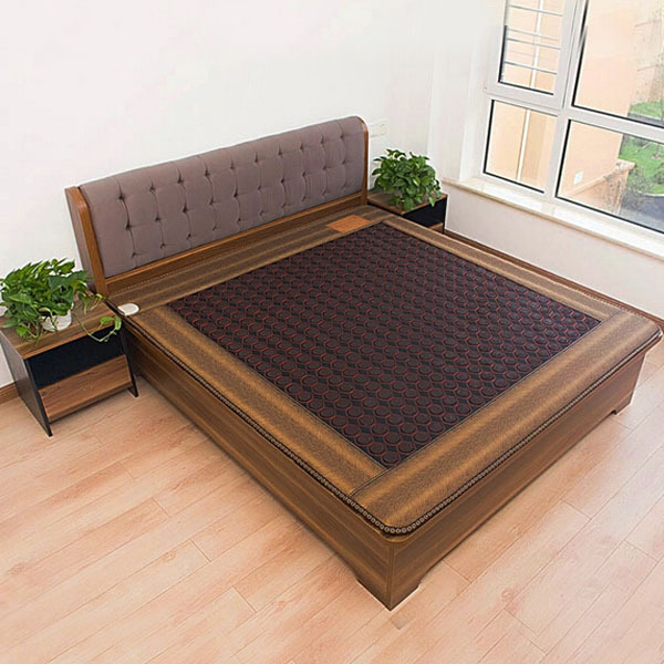 Free Shipping Tourmaline Bed Mattress Heating Health Mattress Far Infrared Thermal 1.2*1.9M 220V As Seen On TV new style popular in thailand health care hot stone tourmaline heating bed jade heating pad bed mattress as seen on tv