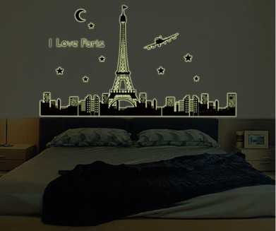 Aliexpress Com Love Paris Eiffel Tower Glow In Dark Wall Part 43