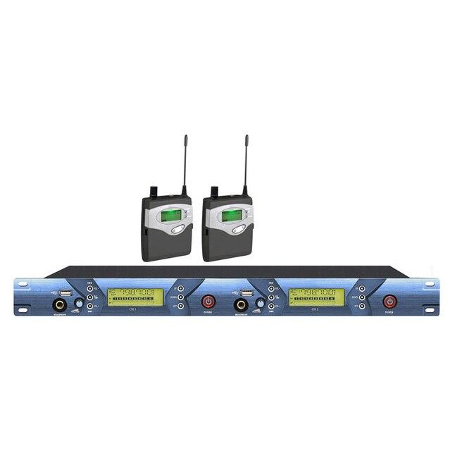 2 / double channels Professional Wireless In Ear Monitor System , Wireless Monitoring System with corner brace and  USB