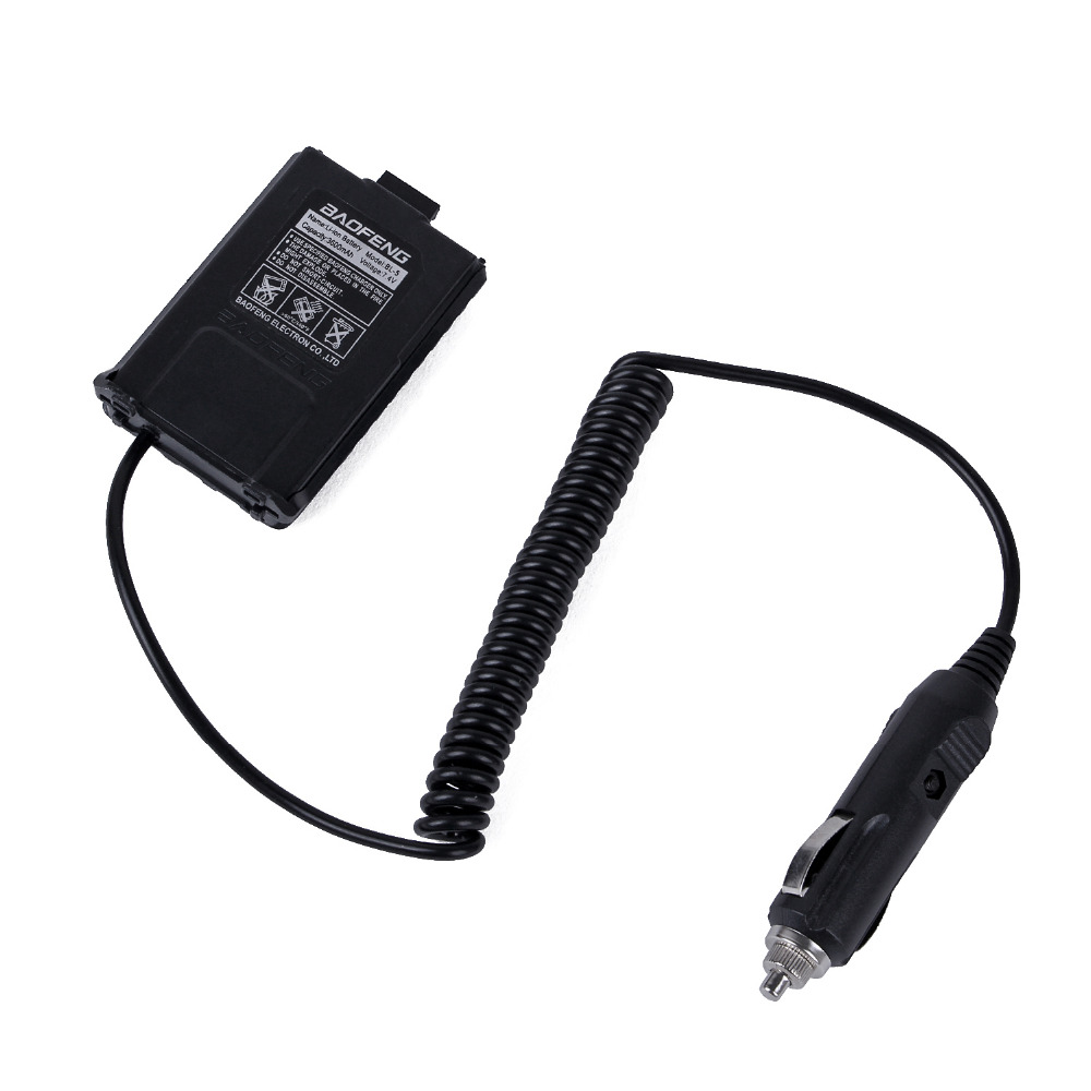 New Walkie Talkie BL-12 V Car Charger Battery Eliminator Adapter For BAOFENG Portable Radio UV-5R UV-5RE Plus UV-5RA