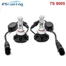 FStuning H7 H11 9005 9006 HB3 HB4 Carro Levou lâmpadas Dos Faróis 6500 k 12000lm ZES Automotive led luz Do Farol Do Carro H7 LEVOU farol
