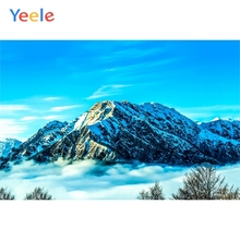 Yeele Landscape Mountain Blue Sky Cloud Fog Decor Photography Backdrops Personalized Photographic Backgrounds For Photo Studio цена