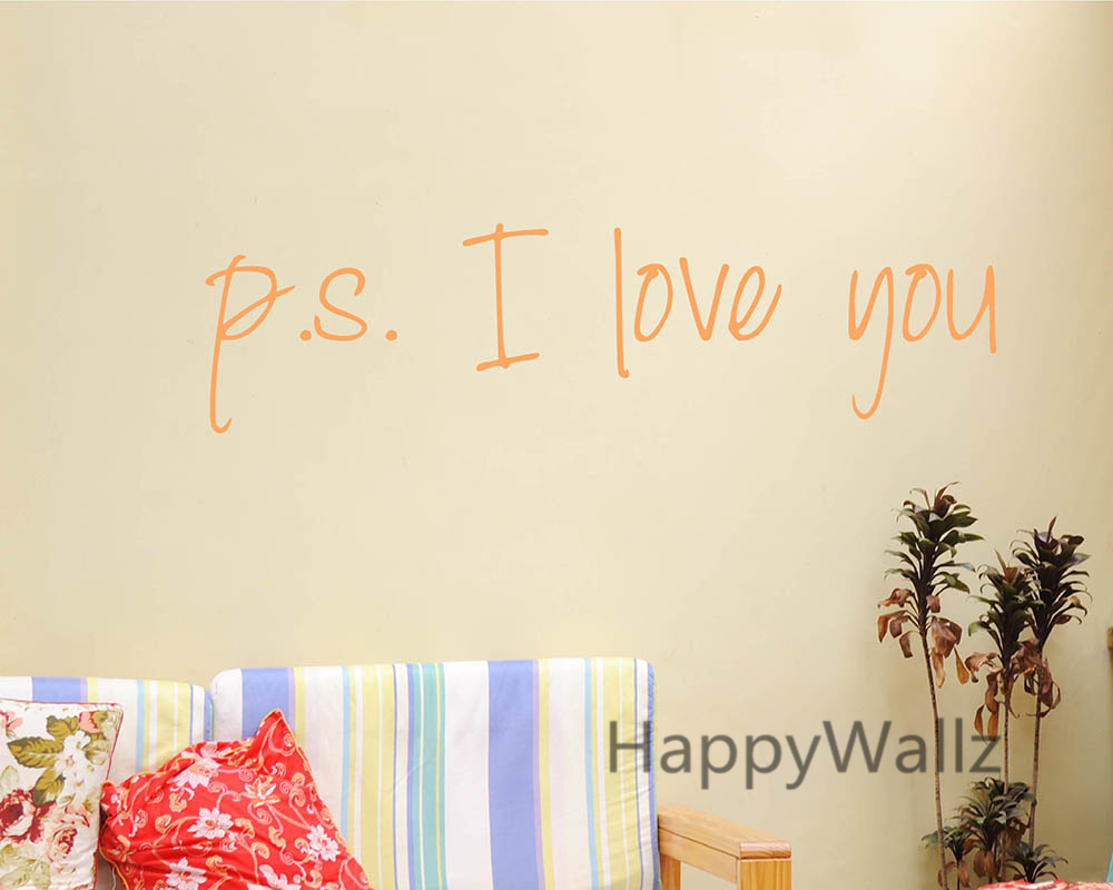 Vinyl Love Quotes Love Quote Wall Sticker Ps I Love You Wall Quotes Diy Decorative