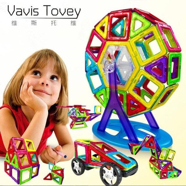 Vavis Tovey More Shapes Mini Magnetic Blocks,Magnetic Designer Construction Set Toy Accessories 3D Model DIY Building Blocks