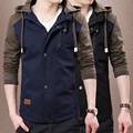 2016 new fashion spring autumn male casual jacket hooded patchwork mens jackets and coats chaquetas hombre plus size 3XL