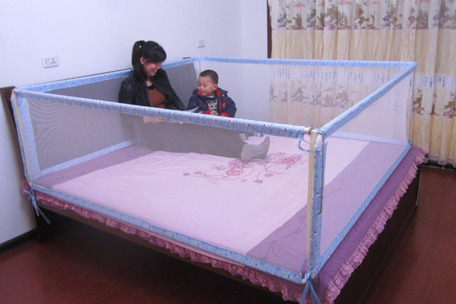 Baby Bed Guardrail Beightening Four Sides Fence Child Rails
