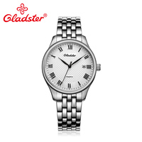 Gladster Luxury Japan MIYOTA2315 Business Men Watch Fashion Casual Quartz Wristwatch Sapphire Crystal Stainless Steel Man Clock
