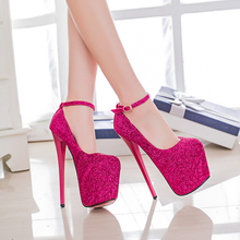 Summer new ultra fine with 20cm Sexy shoes nightclub Fish head high-heeled sandals