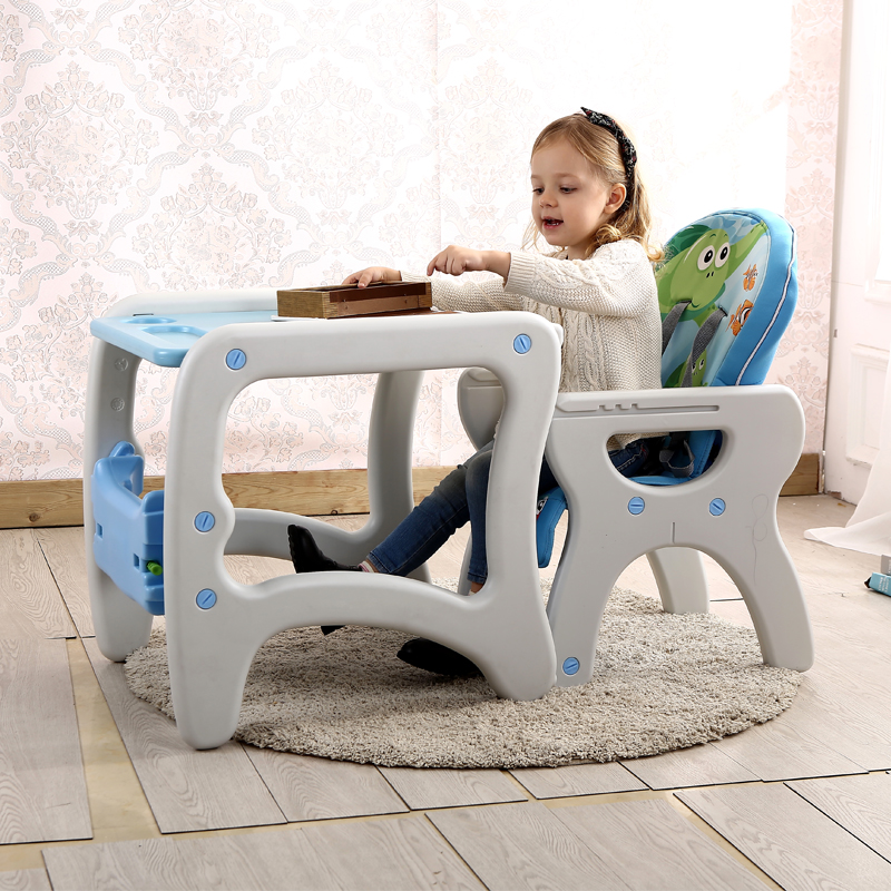 Multifunction Children High Chair Folding Adjustable Portable Baby Feeding Chair