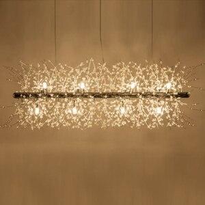 Image 5 - Lukloy ロフト led ペンダントランプハングライトポストモダンシャンデリアタンポポクリスタルリビングルーム寝室ショップ led 照明器具