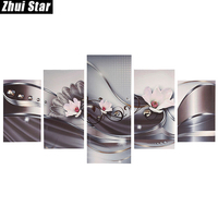 Zhui Star 5D DIY Full Square Diamond Painting Pink Flower Multi Picture Combination Embroidery Cross Stitch