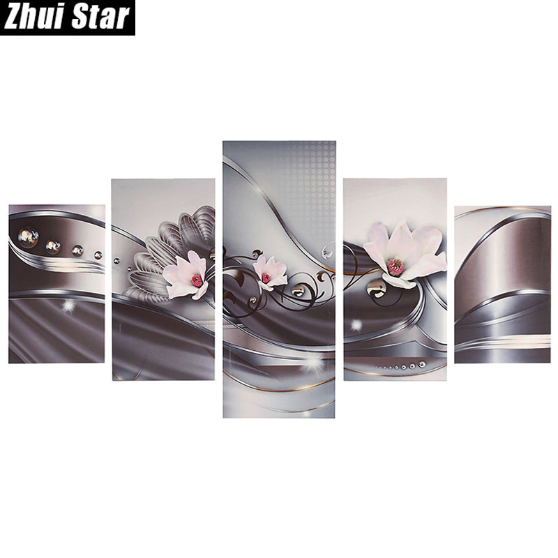 Zhui Star 5D DIY Full Square Diamond Painting pink flower Multi-picture Combination Embroidery Cross Stitch Mosaic DecorZhui Star 5D DIY Full Square Diamond Painting pink flower Multi-picture Combination Embroidery Cross Stitch Mosaic Decor