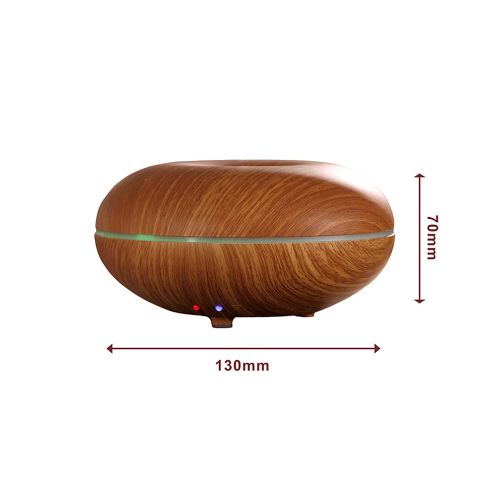 GX Diffuser Essential Oil Aroma Diffuser LED Changing Ultrasonic Humidifier Wood Gain Aromatherapy Fogger for Home Office