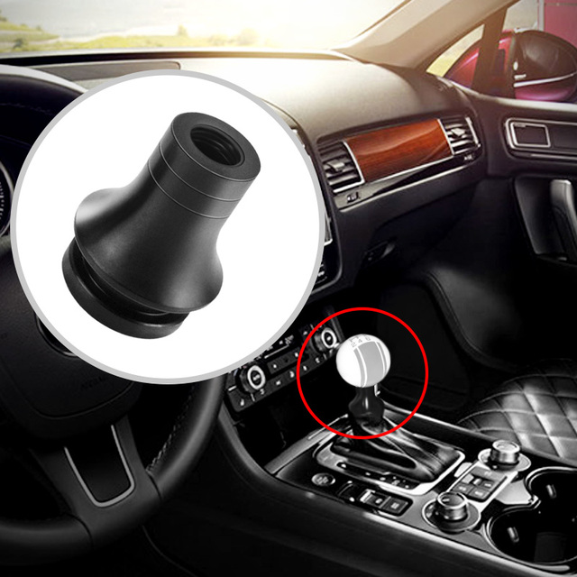 M12 X 1.25 Universal Car Low Profile Gear Shift Knob Boot Adapter Auto Manual Gear Shifter Lever Retainer For Toyota Subaru Ford