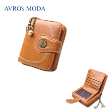 AVRO's MODA Brand PU leather wallet for women 2019 ladies hot sale vintage zipper purse strap money bag coin phone pocket clutch