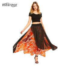 11a23166e4 Buy satin floral maxi skirt and get free shipping on AliExpress.com
