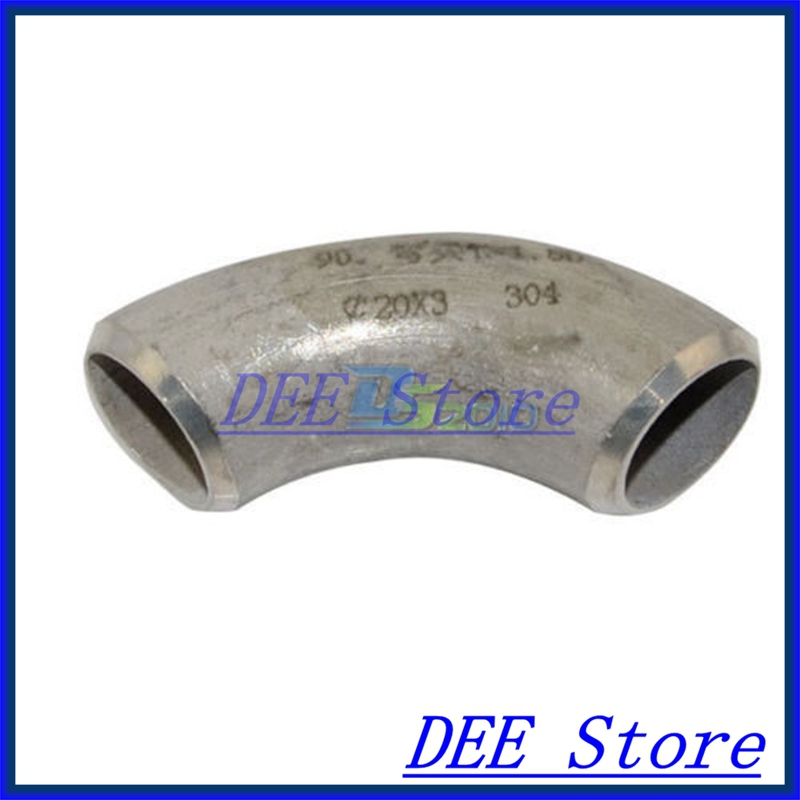 New 60MM Short Radius Butt-Weld Elbow 90 Degree SS304 SUS304 Pipe Fitting new 45mm tee 3 way stainless steel 304 butt weld pipe fitting ss304