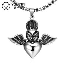 High quality New love N046 Titanium fashion statement necklace chain stainless steel vintage with heart pendant & necklace women
