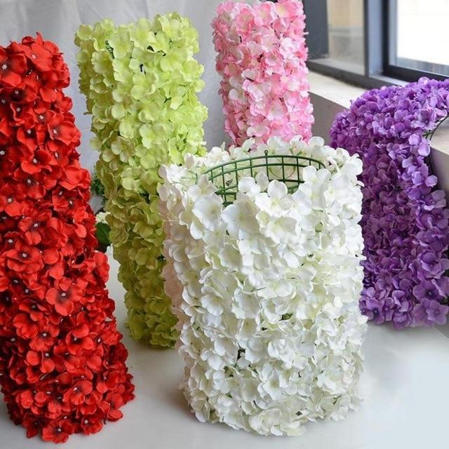 Kunststoff Blume Reihe Blumen Wand Hochzeit Hintergrund Rasen Saule