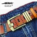 2017 GuiZuE Nuevo Temperamento y cinturones de lujo de la marca pin Hebilla cinturones Cinturones para Hombres correa de cuero de los hombres pantalones vaqueros masculinos
