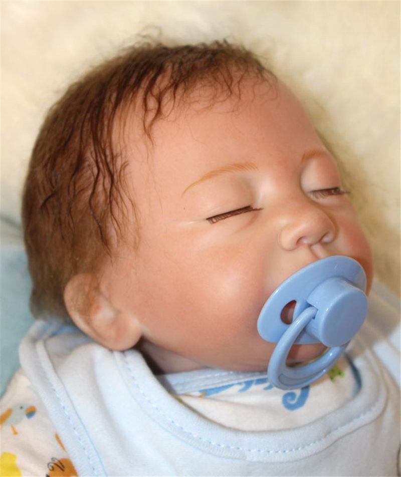 50cm Silicone reborn sleeping baby doll toy newborn boy babies doll bebe reborn girls bonecas birthday gift present play house t 50cm soft body silicone reborn baby doll toy lifelike baby reborn sleeping newborn boy doll kids birthday gift girl brinquedos