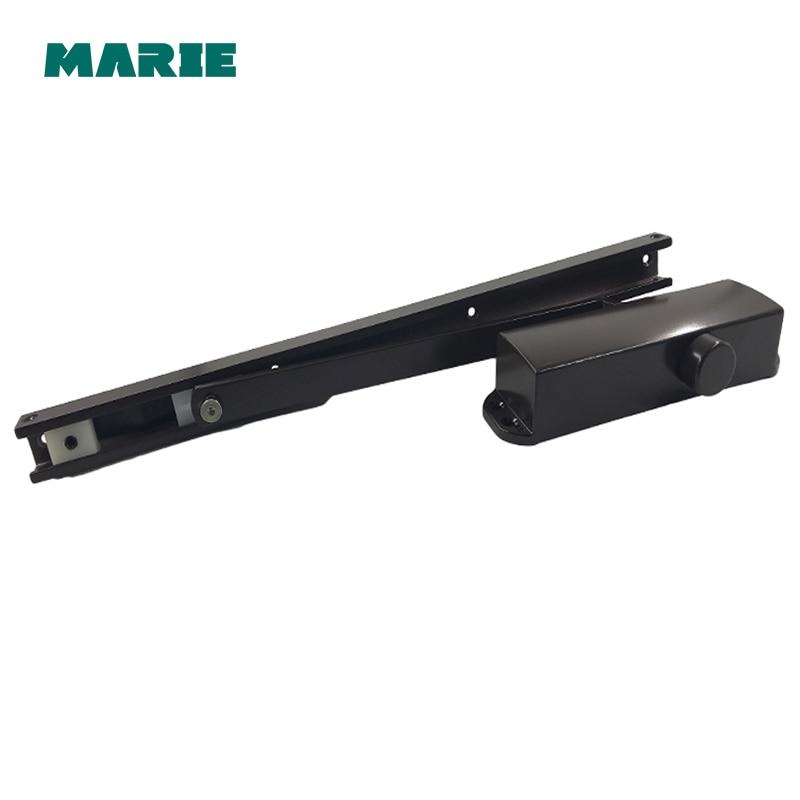 Couleur marron fermeture de porte système de sécurité réglable fermeture/verrouillage vitesse Aluminium pour portes 40-65 KG fermoirs de porte