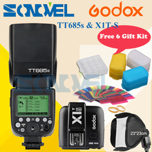 Godox TT685S 2,4G HSS TTL GN60 Blitz Speedlite + X1T-S Sender für Sony A58 A7RII A7II A99 A7R A7SII A6500 A6300 A6100 A6000