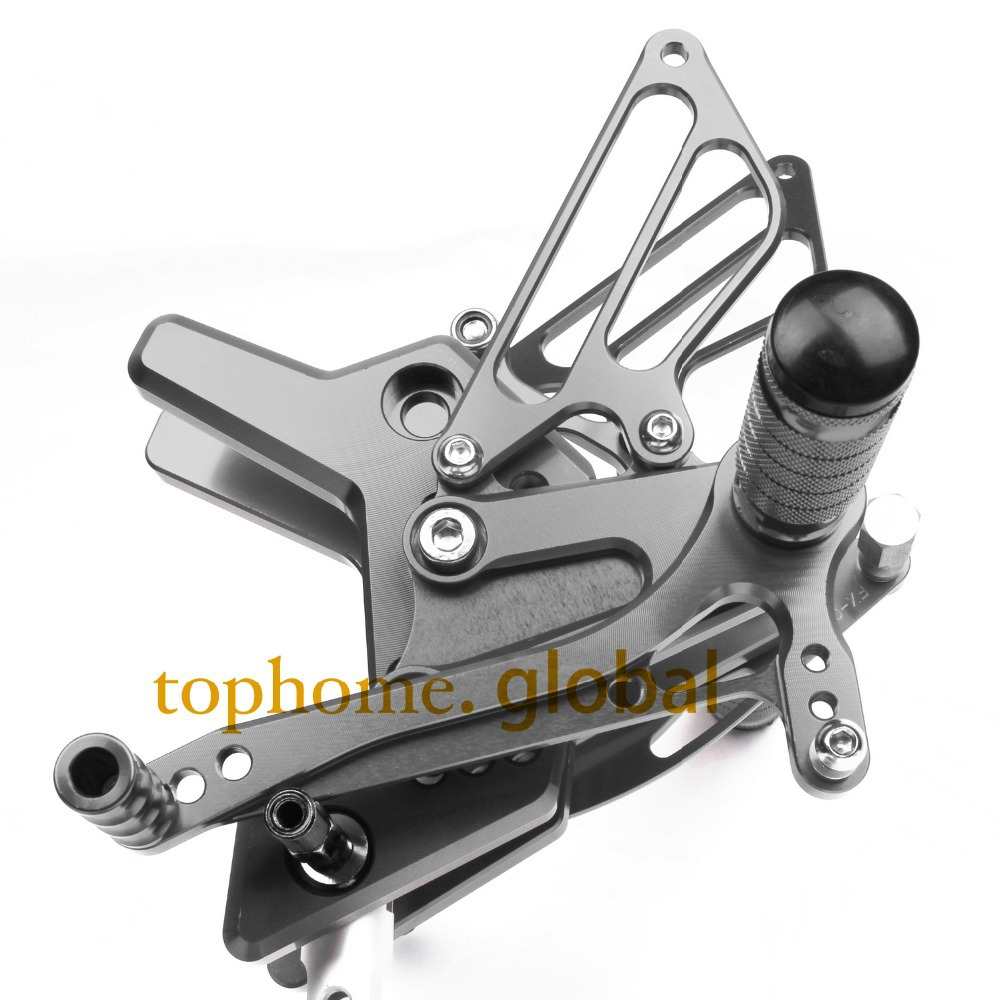 Motorcycle CNC Rearsets Foot Pegs Rear Set For Kawasaki Z750 2004 2005 2006 Motorcycle Foot Pegs Dark Grey-in Foot Rests from Automobiles & Motorcycles    1