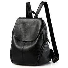 YGDB Fashion Women Solide Reißverschluss Reise Rucksack Laptop Schule Pu-leder Rucksack Satchel Hochschule Mochila UN0621