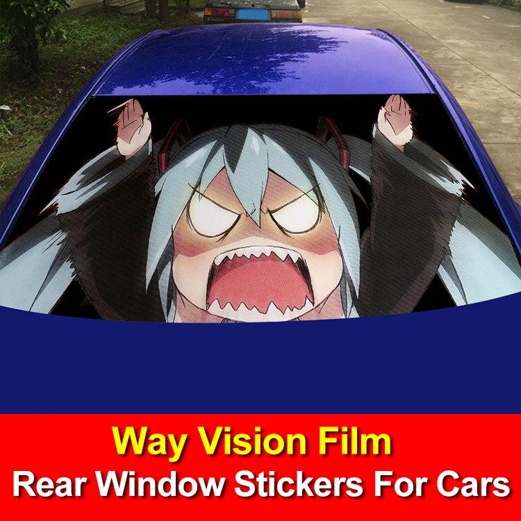 Autocollants de fenêtre arrière Film de Vision de voiture pour voitures autocollants de voiture tigre costume de décalcomanies de fenêtre de voiture pour Ford BMW Honda VW Mazda Skoda Jeep