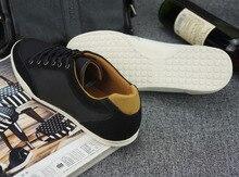 Hot sale Sko Flats men black popular shoes men men shoes brands 2015 men's flats Ox fur & Genuine Leather Breathable Massage