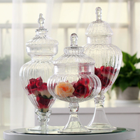 Transparent Glass Jar With A Lid Candy Jar Large Food Storage Tank Canister Storage Bottle Wedding