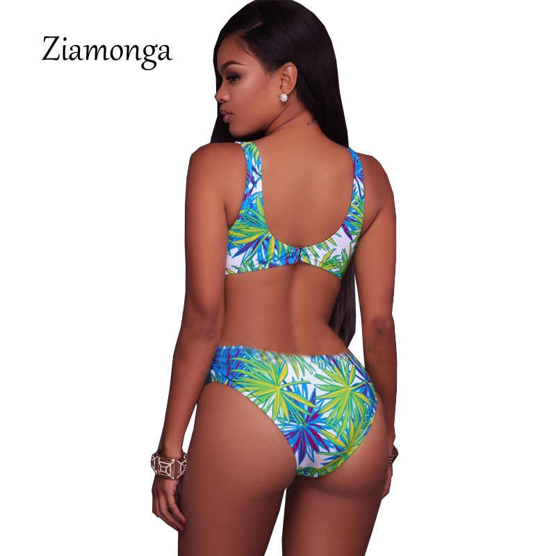 Ziamonga 2018 nuevo verano estampado flor moda Sexy señoras delgadas Casual sin espalda sin mangas Bodysuits mujer mono ropa de playa