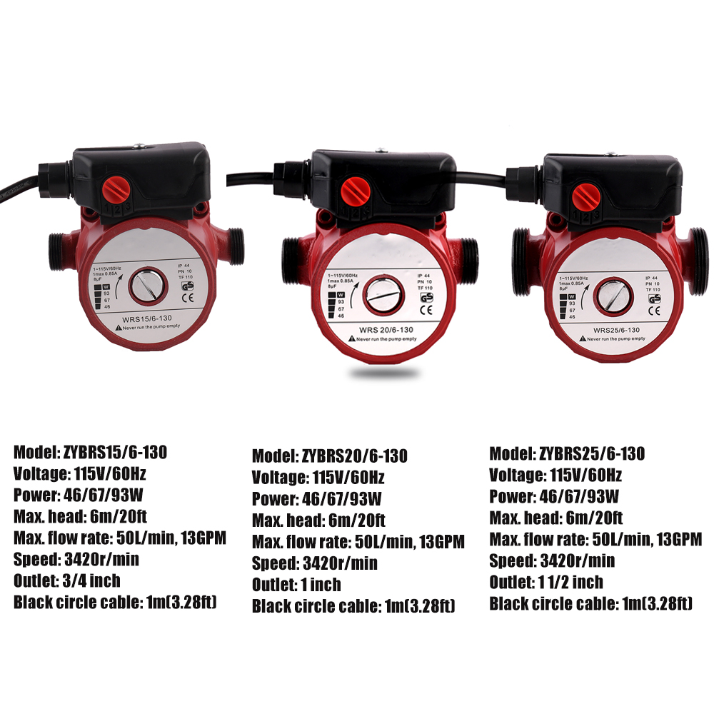 Clearance! 115V/230V Household Hot Water Pressure Booster Heat Pump Circulating Water Pump Used Style Inventory Clearance