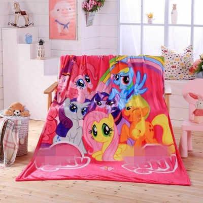 2019 Новое мягкое одеяло мультфильм одеяло Радуга счастливый Летающий Лошадь Единорог Вышивка одеяло s