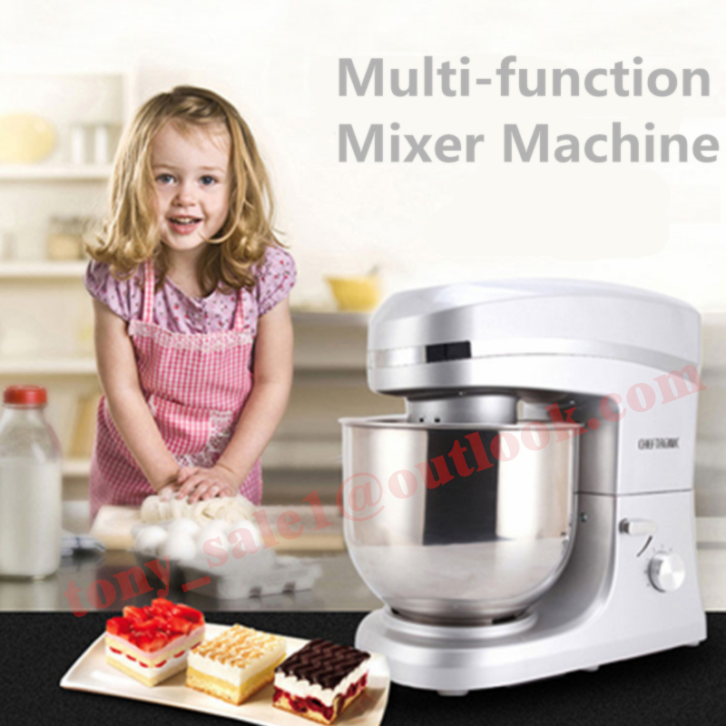 Newest 1000W Multifunction Stand Food Mixer 7L Bowl Dough Mixer Food Machine Silver Red Color For Choose multifunctional food stand mixer 7l food mixer machine dough mixer machine planetary mixer