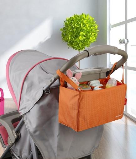9 Colores de la Nueva alta calidad 100% de nylon bolso Del Organizador Cochecito cochecito infantil Cochecito de Bebé Colgando Bolsa de Pañales de Almacenamiento venta caliente