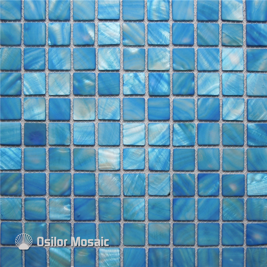 blue color Chinese freshwater shell mother of pearl mosaic tile for bathroom and kitchen decoration wall tile environmentally friendly pvc inflatable shell water floating row of a variety of swimming pearl shell swimming ring
