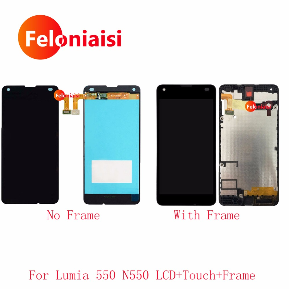 4.7'' For Nokia Microsoft Lumia 550 N550 RM-1127 Lcd Display With Touch Screen Digitizer Panel Assembly Complete With Frame