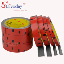 3meters 3M5108 strong double sided rubber no trace foam double sideds adhesive Resistant high temperature car dedicated tape DIY недорого