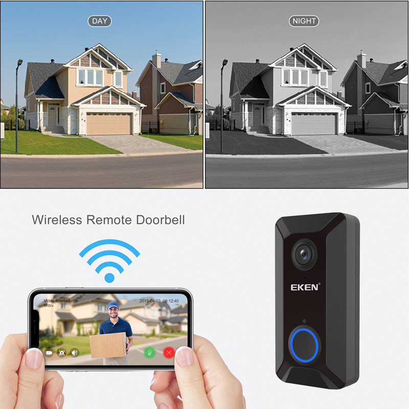 EKEN Smart Wireless Doorbell Intercom with Camera for Home Security Monitoring 3